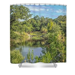 View Down The Creek Shower Curtain