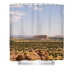 View From Acoma Mesa Shower Curtain by James Gay