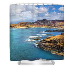 View From Ardnamurchan Shower Curtain by David Hare