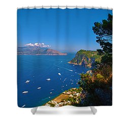 View From Capri Shower Curtain by Dany Lison