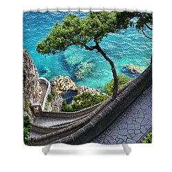 View From Capri.italy Shower Curtain by Jennie Breeze