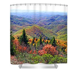 View From Devil's Courthouse Rock Shower Curtain