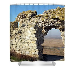 Shower Curtain featuring the photograph View From Enisala Fortress 2 by Manuela Constantin