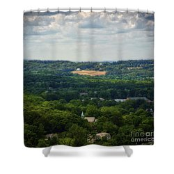 Shower Curtain featuring the photograph View From Goat Hill by Debra Fedchin