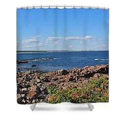 View From Marginal Way Ogunquit Maine 3 Shower Curtain