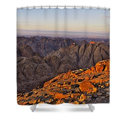 View From Mount Sinai Shower Curtain by Ivan Slosar