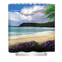 Shower Curtain featuring the digital art View From My Villa by Anthony Fishburne