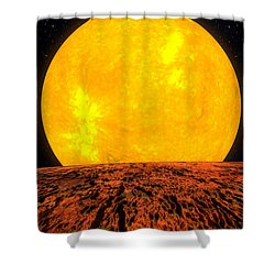 View From Planet Kepler 10b Shower Curtain by Movie Poster Prints