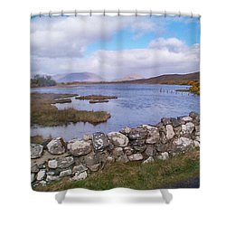 View From Quiet Man Bridge Oughterard Ireland Shower Curtain