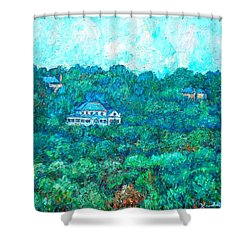 View From Rec Center Shower Curtain by Kendall Kessler