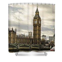 View From Southbank Shower Curtain by Heather Applegate