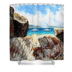 View Of Devil's Bay Shower Curtain