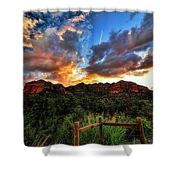 View From The Fence  Shower Curtain by Saija  Lehtonen