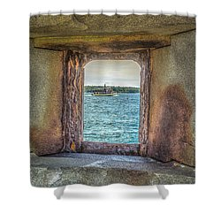 Shower Curtain featuring the photograph View From The Fort by Jane Luxton