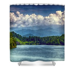 View From The Great Smoky Mountains Railroad Shower Curtain