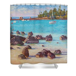 View From The Grotto Shower Curtain by Dianne Panarelli Miller