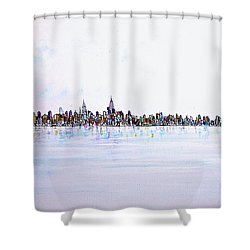 View From The Hudson Shower Curtain