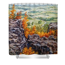 View From The Point Petit Jean Shower Curtain