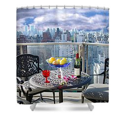 View From The Terrace Shower Curtain
