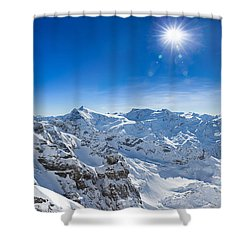 View From Titlis Mountain Towards The South Shower Curtain