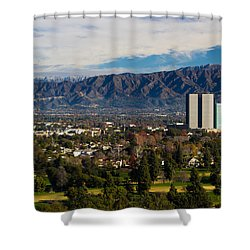 View From Universal Studios Hollywood Shower Curtain by Heidi Smith
