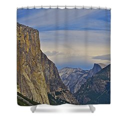 View From Wawona Tunnel Shower Curtain