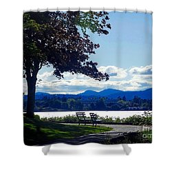 View In Victoria B C Canada Shower Curtain