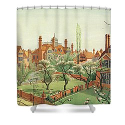 View Of Bedford Park Shower Curtain by English School