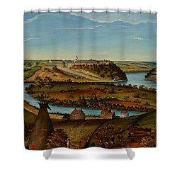 View Of Fort Snelling Shower Curtain by Edward K Thomas