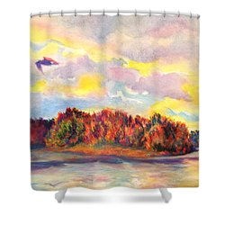 View Of Goat Island Shower Curtain