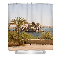 View Of Lake Shower Curtain by James Gay