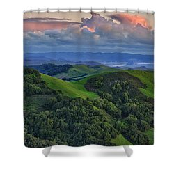 View Of Morro Bay Shower Curtain