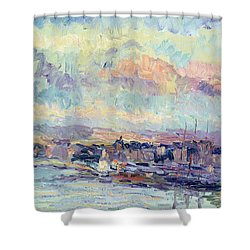 View Of Paris Shower Curtain by Albert Charles Lebourg