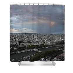 Shower Curtain featuring the photograph View Of Paris by Ivete Basso Photography