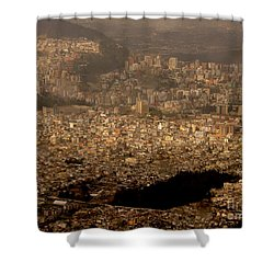 Shower Curtain featuring the photograph View Of Quito From The Teleferiqo by Eleanor Abramson