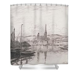View Of Rouen Shower Curtain by Claude Monet
