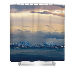 View Of The Alpsjura Switzerland Shower Curtain by Yves Marcoux