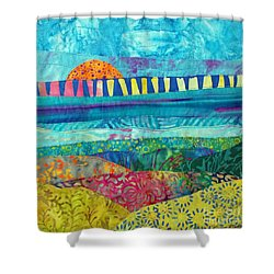 View Of The Bridge Shower Curtain by Susan Rienzo