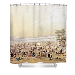 View Of The Crystal Palace Shower Curtain by George Baxter