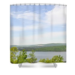 View Of The Mountains Of Alabama Shower Curtain by Verana Stark