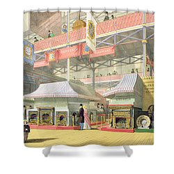 View Of The Sheffield Hardware Stand Shower Curtain by English School