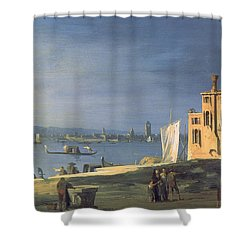 View Of Venice Shower Curtain by Canaletto