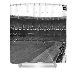 View Of Yankee Stadium Shower Curtain by Underwood Archives
