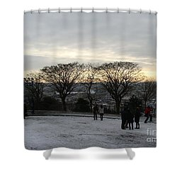 View Over Paris Shower Curtain