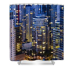 View Towards Coal Harbor Vancouver Mdxxvii  Shower Curtain