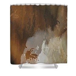 Vii - Mirky Wood Shower Curtain