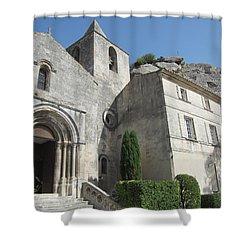 Village Church Shower Curtain by Pema Hou