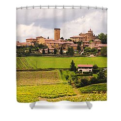 Village In French Countryside Shower Curtain by Allen Sheffield