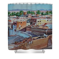 Village Shower Curtain by Mohamed Fadul