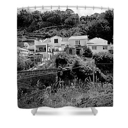 Village Nestled In The Hills  Shower Curtain